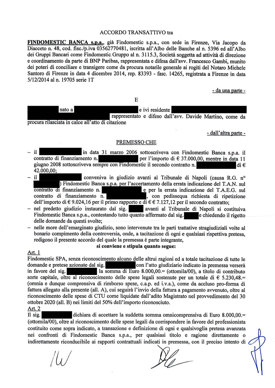 Findomestic | Contratto di finanziamento: errata indicazione del T.A.E.G. (novembre 2020)